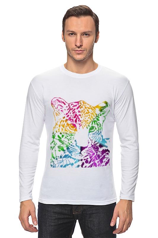 Лонгслив Printio Радужный леопард