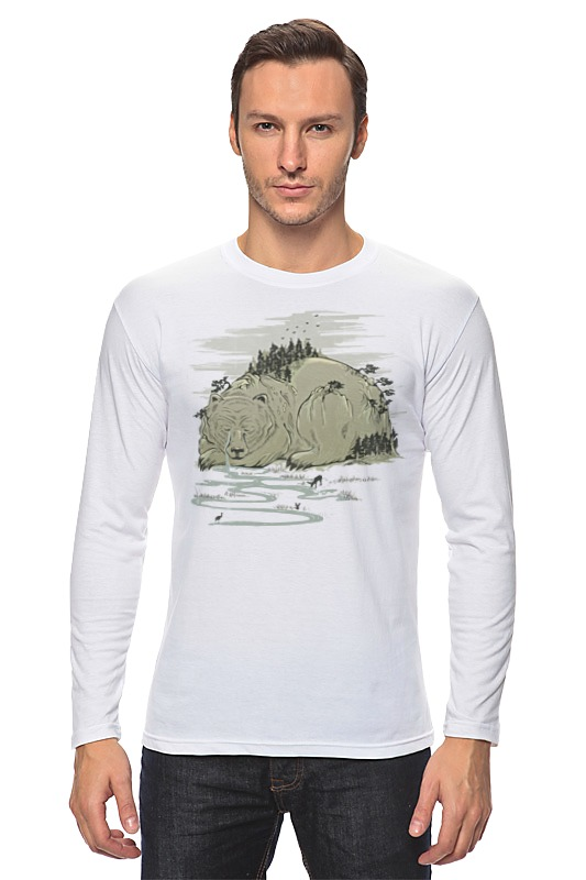Лонгслив Printio Медвежья гора цена и фото