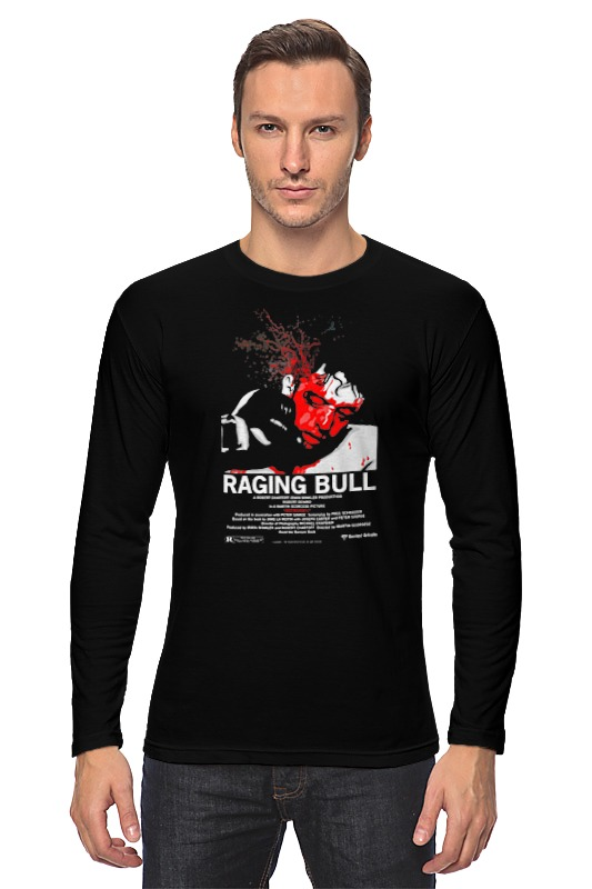 Лонгслив Printio Raging bull / бешеный бык цена