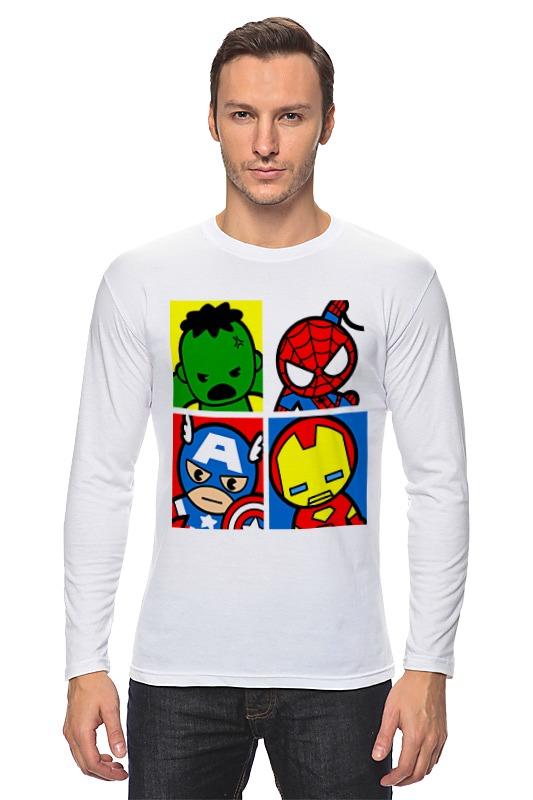 Лонгслив Printio Мстители капитан америка удивительный человек паук 2 железный человек перчатки мультфильм детей игрушки передатчик