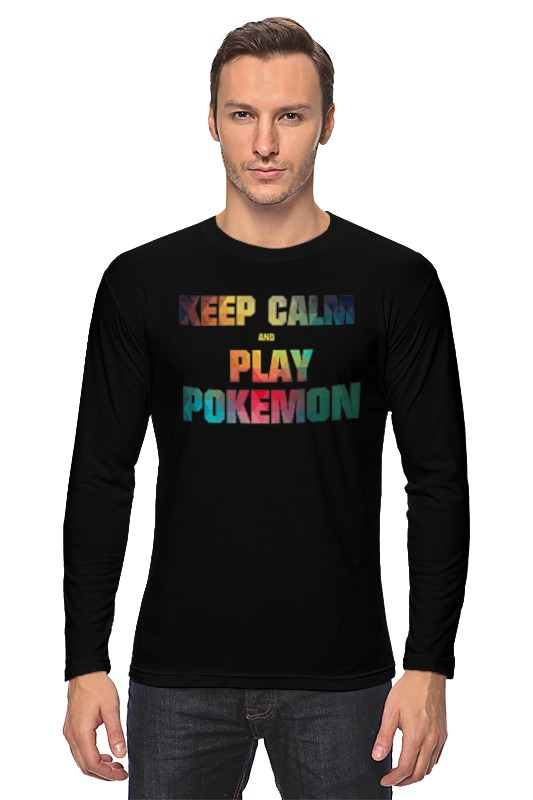 Лонгслив Printio Keep calm and play pokemon сумка printio keep calm and play rock