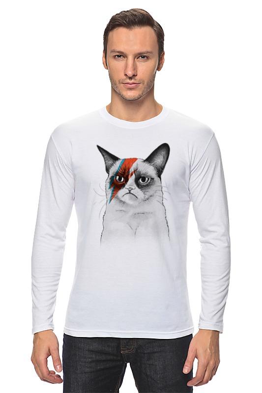 Printio Grumpy cat x bowie футболка с полной запечаткой женская printio grumpy cat x david bowie