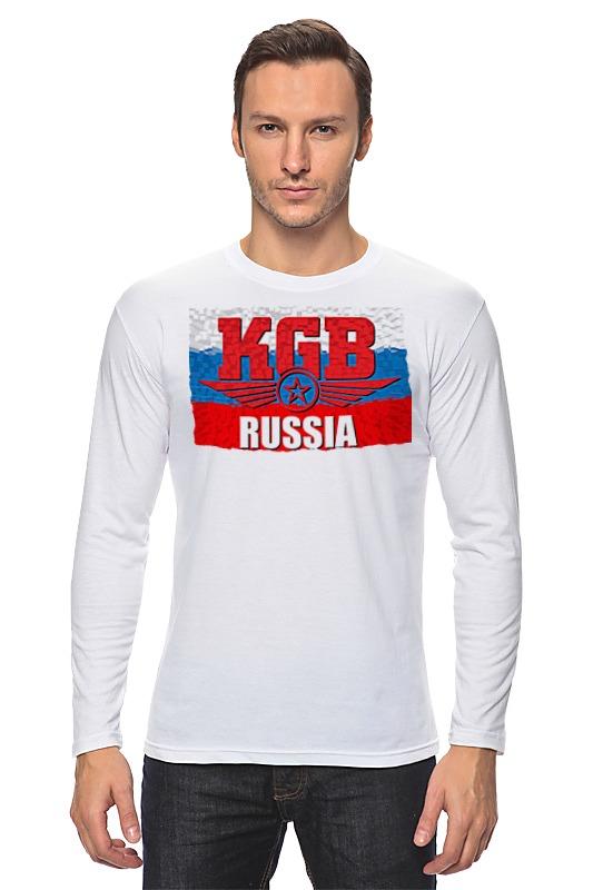 купить Лонгслив Printio Kgb - russia по цене 968 рублей