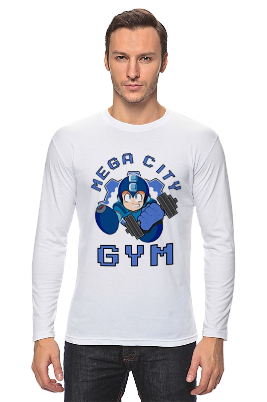 Printio Mega man gym лонгслив printio gym