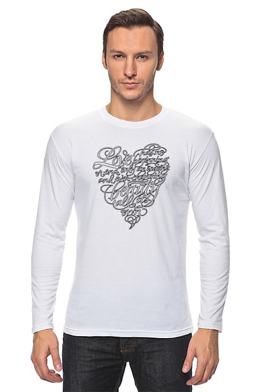 Лонгслив Printio Love lettering (сердце с надписью) майка print bar love lettering