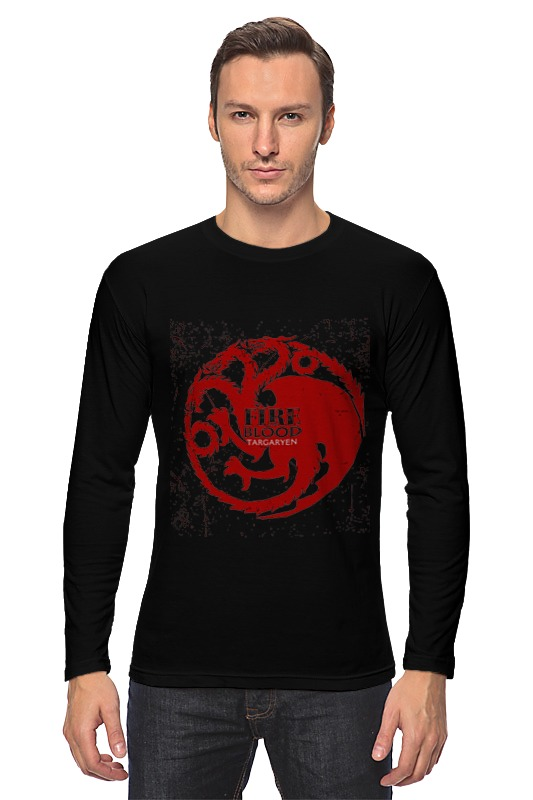 Лонгслив Printio Fire and blood плакат a3 29 7x42 printio fire and blood