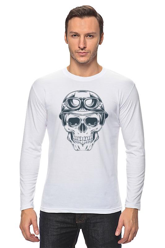 Лонгслив Printio Байкерский череп футболка для байкера