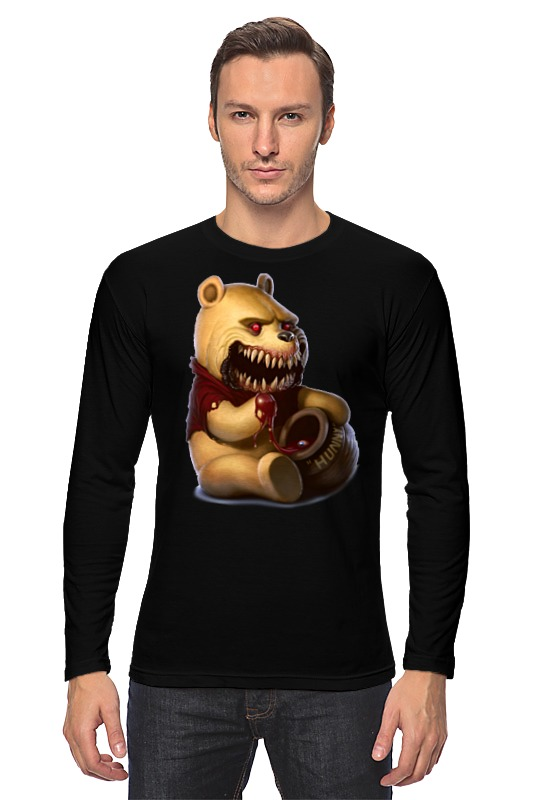 Лонгслив Printio Zombie the pooh