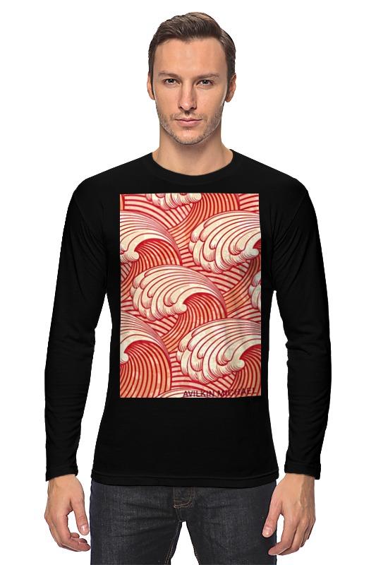 Лонгслив Printio Абстрактные волны
