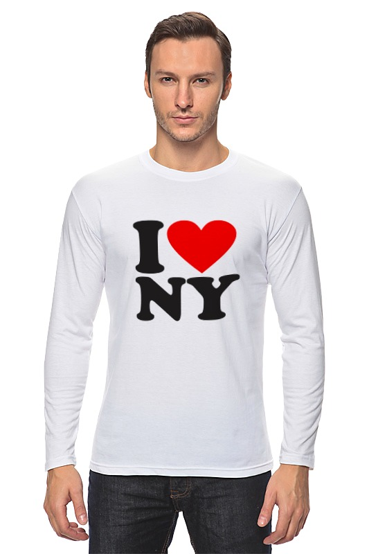 Лонгслив Printio I love ny лонгслив printio i love you beary much