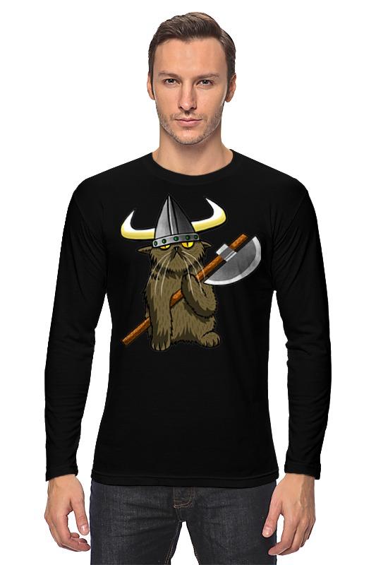 Лонгслив Printio Кот викинг футболка классическая printio кот викинг
