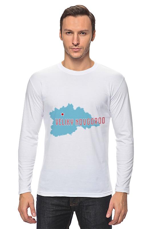 Лонгслив Printio Новгородская область. великий новгород голомолзин е великий новгород тверь клин вышний волочек валдай бологое