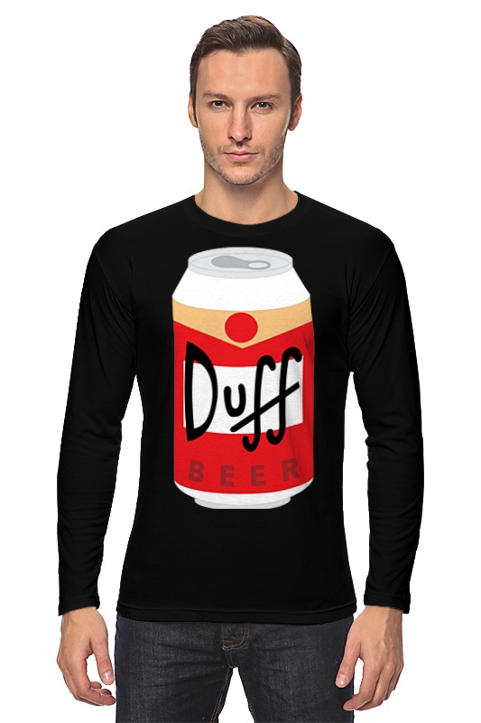 Лонгслив Printio Пиво дафф (duff beer) лонгслив printio bear beer медведь и мед