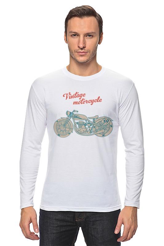 Лонгслив Printio Винтажный мотоцикл