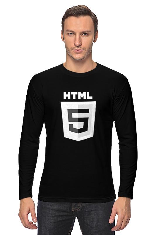 Лонгслив Printio Dark html5 изучаем html5 библиотека специалиста