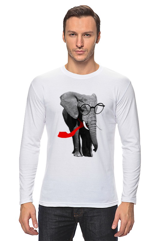 Лонгслив Printio слон