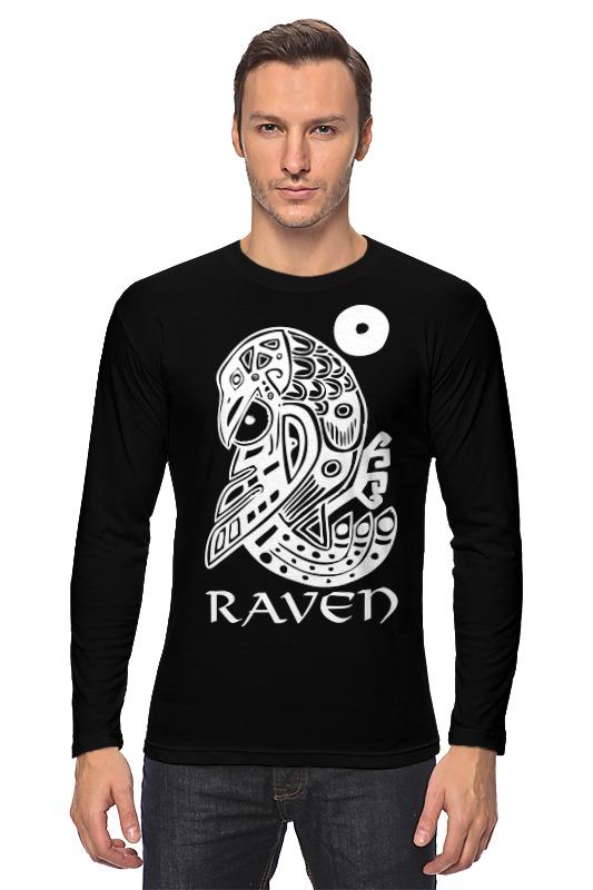 Лонгслив Printio Raven brand