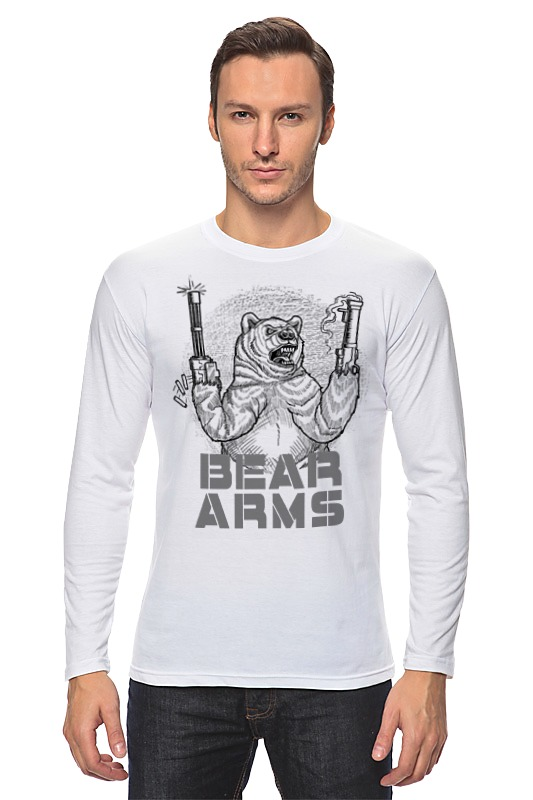Лонгслив Printio Bear arms лонгслив printio bear beer медведь и мед