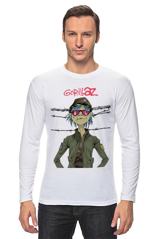 Лонгслив Printio Gorillaz купить часы с изображением музыкальной группы