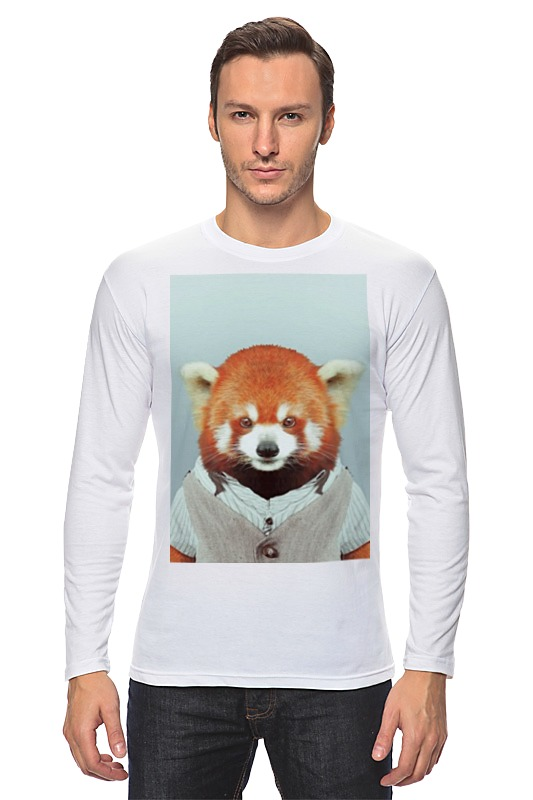 Лонгслив Printio Деловая панда