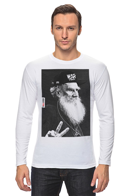 Лонгслив Printio tolstoy by design ministry толстовка wearcraft premium унисекс printio nancy and freddy