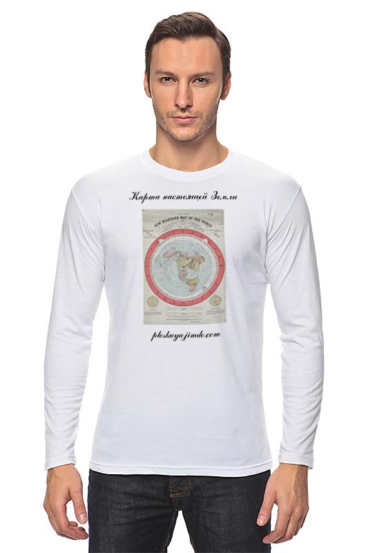 Лонгслив Printio Карта плоской земли