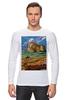 """Лонгслив """"ретро плакат"""" - ретро, америка, природа, горы, плакат"""