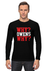 "Лонгслив ""Why? Owens Why? (WWE)"" - wwe, кевин стин, кевин оуэнс, kevin steen, kevin owens"