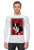 """Лонгслив """"Boston Terrier"""" - dog, терьер, boston terrier, бостон терьер"""