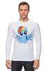 """Лонгслив """"RainbowDash T-Shirt"""" - круто, rainbow dash, my little pony, пони, rainbow, стильно, рейнбоу дэш, молодёжно"""