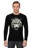 "Лонгслив ""Белый тигр"" - хищник, tiger, тигр, белый тигр, predator, white tiger"