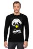 """Лонгслив """"Панда в маске"""" - bear, медведь, панда, panda"""