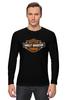 """Лонгслив """"Harley Davidson"""" - мото, harley davidson, чоппер, харлей, kinoart"""