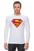 "Лонгслив ""Супермен"" - супермен, superman, логотип"