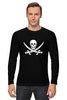 """Лонгслив """"Веселый Роджер."""" - череп, jolly roger, пират, веселый роджер, pirates, пираты карибского моря, пиратский флаг"""