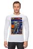 """Лонгслив """"Bad Robot"""" - red, винтаж, robot, робот, иллюстрация, blue, vintage, журнал, обложка"""