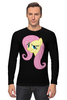 "Лонгслив ""Fluttershy Appoved"" - арт, pony, mlp, пони, fluttershy"