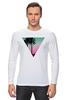 "Лонгслив ""Miami Triangle"" - пальмы, miami, майами"