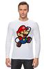 "Лонгслив ""Марио (Mario)"" - nintendo, 90's, марио, mario bros"