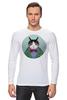 """Лонгслив """"Кот в костюме"""" - кот, смешные, прикольные, cat, well dressed animal, suit, кот в одежде, зоопортрет, галстук-бабочка"""