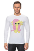 "Лонгслив ""Serious Fluttershy"" - pony, mlp, my little pony, brony, fluttershy, friendship"