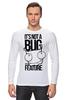 """Лонгслив """"It's nota BUG """" - ноты, смешные надписи, bug, nota"""