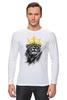"""Лонгслив """"Лев в короне"""" - king, корона, лев, царь зверей, crown"""