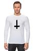 """Лонгслив """"Крест"""" - крест, pixelart, церковь, атеизм, перевернутый"""