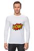 """Лонгслив """"Pooow!"""" - boom, pop art, pow, blast"""