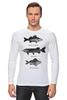 """Лонгслив """"Коллекция рыб"""" - рыба, fish, рыбалка"""
