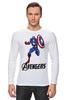 "Лонгслив ""Капитан Америка"" - мстители, avengers, капитан америка, captain america"