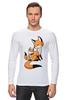 "Лонгслив ""Две Лисички (fox)"" - fox, лиса, лисенок, лисичка"