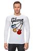 """Лонгслив """"Gibson"""" - гитара, рок, gibson, гибсон"""