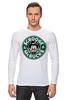 "Лонгслив ""Scrooge McBucks (Starbucks)"" - пародия, coffee, старбакс, скрудж макдак"
